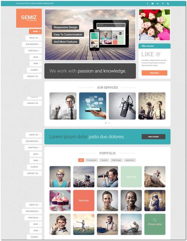 Gemiz - Portfolio HTML Template