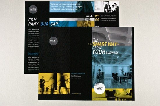 General Business Brochure Blue and Yellow Template
