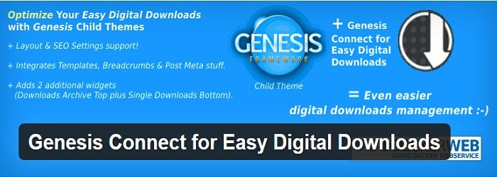 Genesis Connect for Easy Digital Downloads
