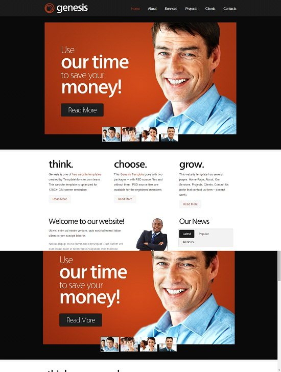 Genesis – Free Consulting Website Template