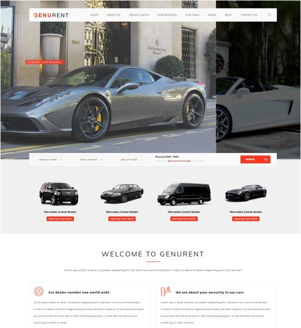 Genurent - Transport and Car Hire HTML Template