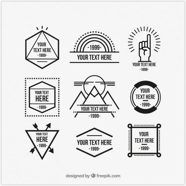 Geometric hipster logos