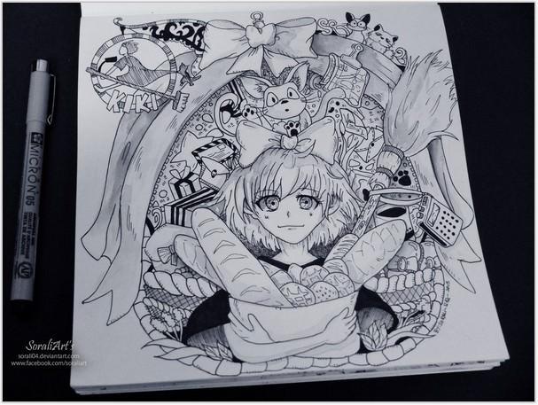 Ghibli Doodle Art