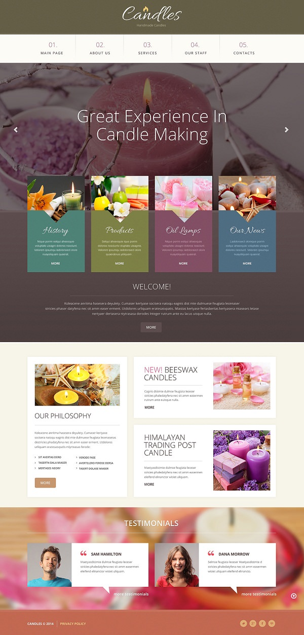Gifts Responsive Bootstrap Website Template