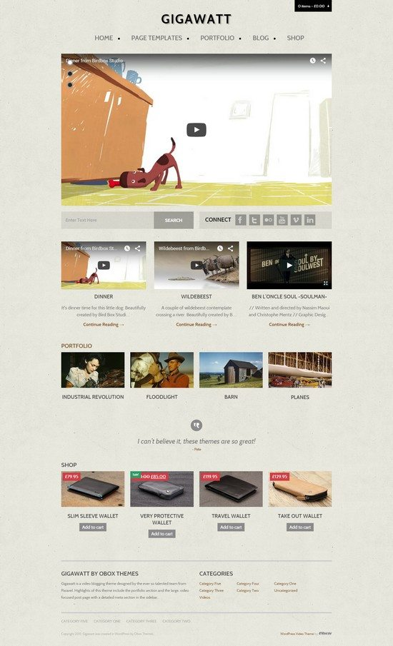 Gigawatt – WordPress Video Theme