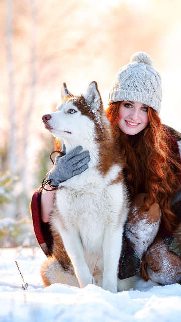 Girl Snow Wallpapers Iphone