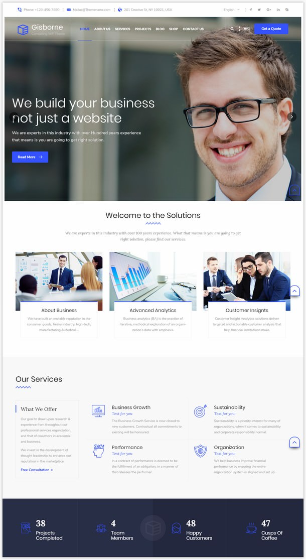 Gisborne - Business, Finance and Consulting WordPress Theme-7514643