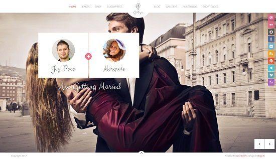 Gittys - Responsive Wedding WordPress Theme