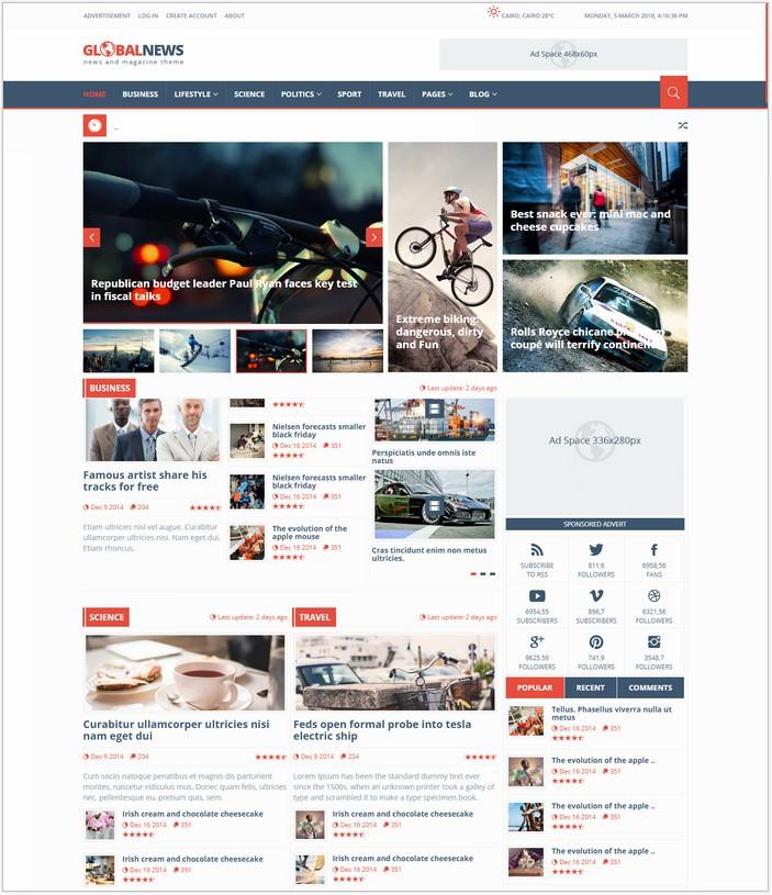 Globalnews - News HTML5 Template