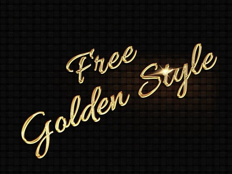 Golden typography Style