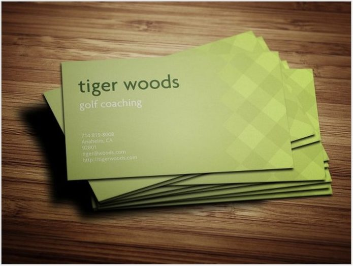 Golf Coaching Pattern Business Card