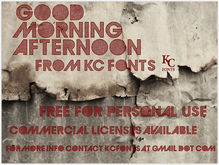 GoodMorningAfternoon font - by KC Fonts