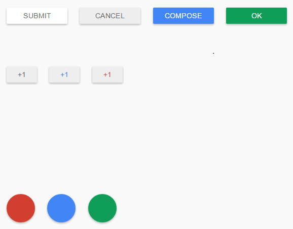 Google Material Design Button UI