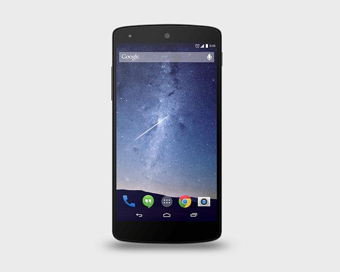 Google Nexus 5 PSD Mock-Up free