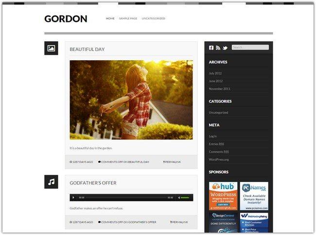 Gordon WordPress Theme