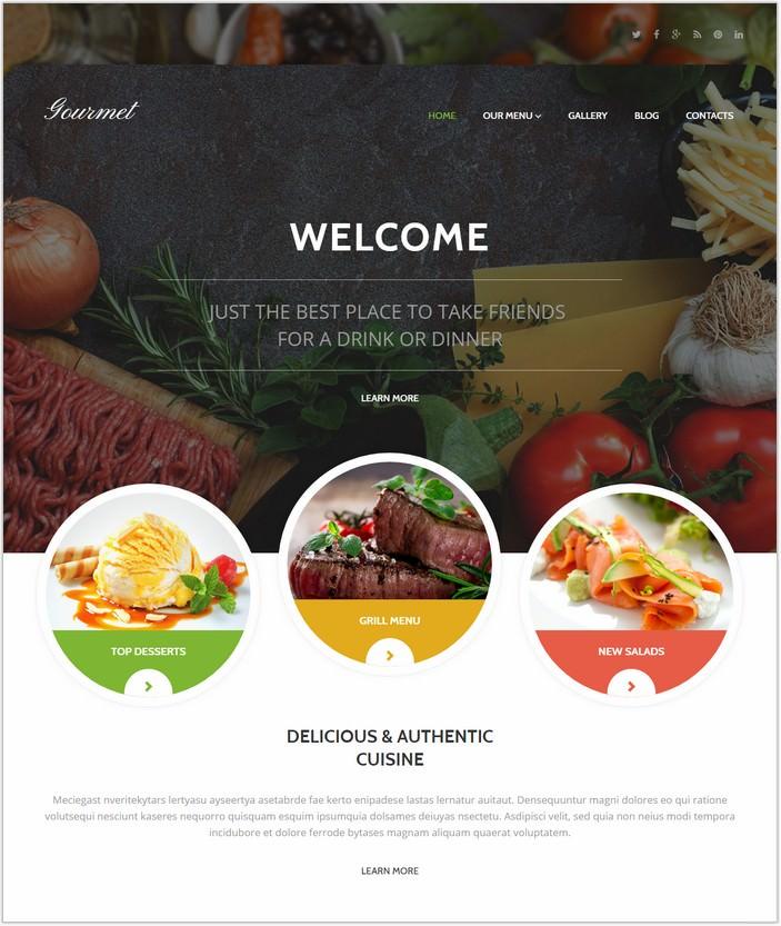Gourmet Cuisine WordPress PHP Theme