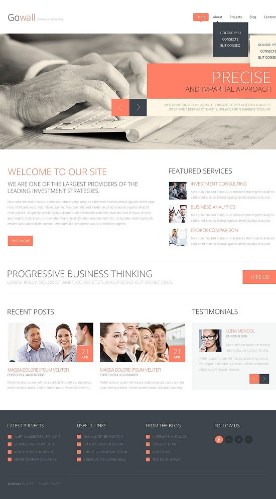 Gowall Consulting Responsive Website Template