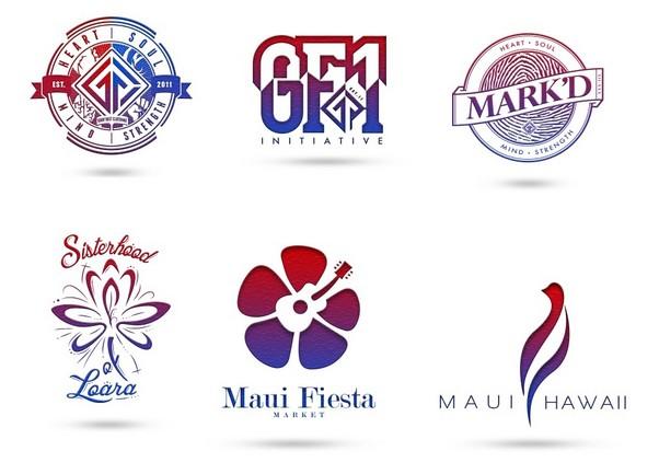 Gradient Logo Design Concepts