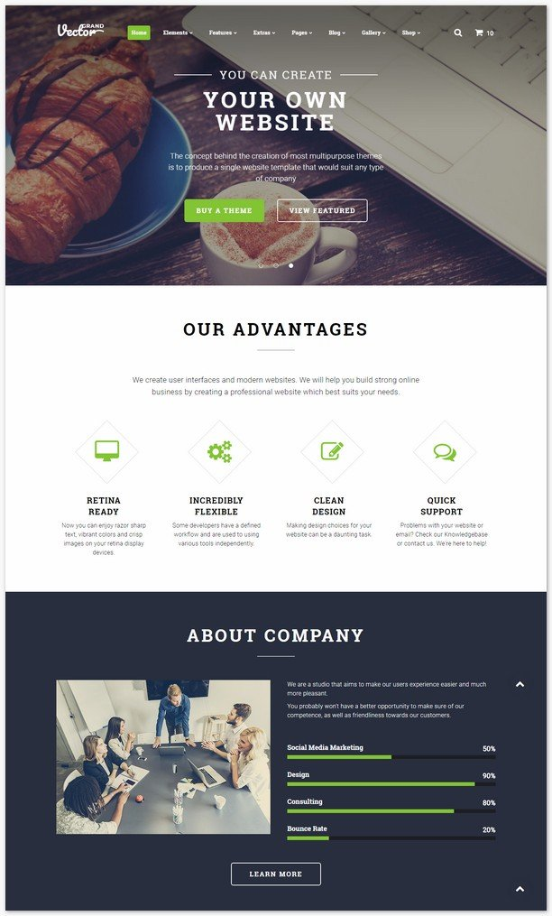 Grand Vector - Design Studio Multipurpose Website Template