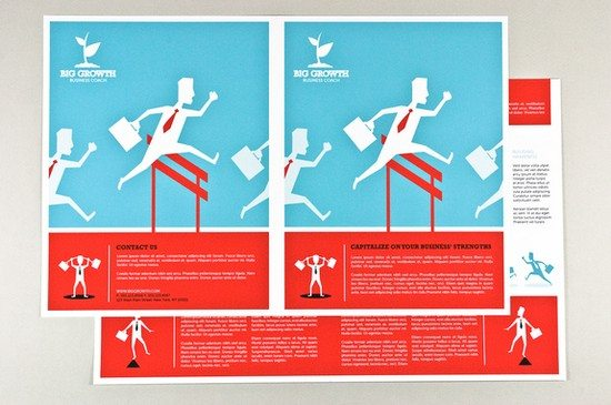 Graphic Business Coach Brochure Template