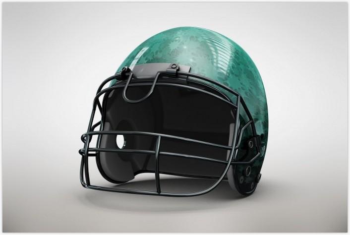 Green Helmet Mock up Free Psd