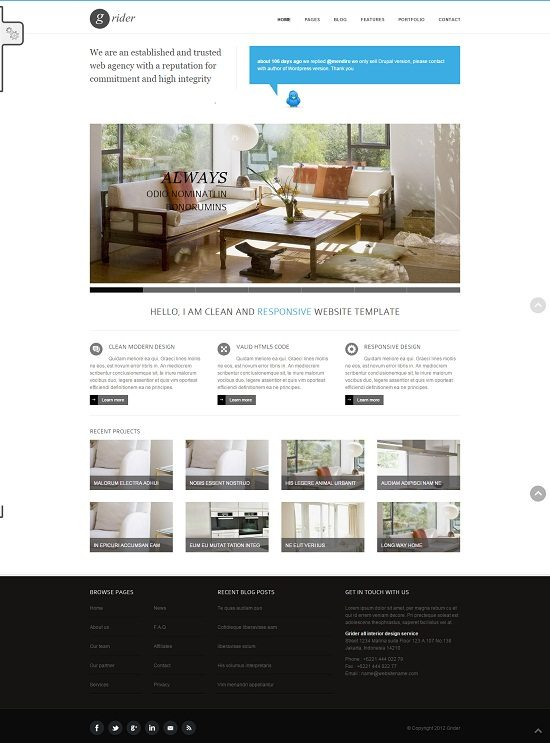 Grider - HTML5 & CSS3 Responsive Drupal Theme