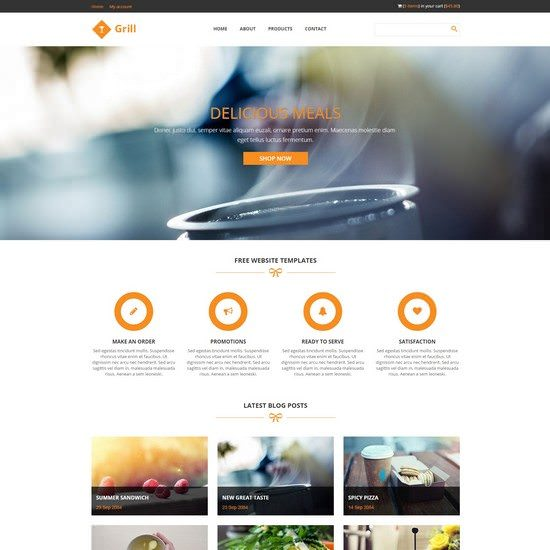 Grill Restaurant Website Template