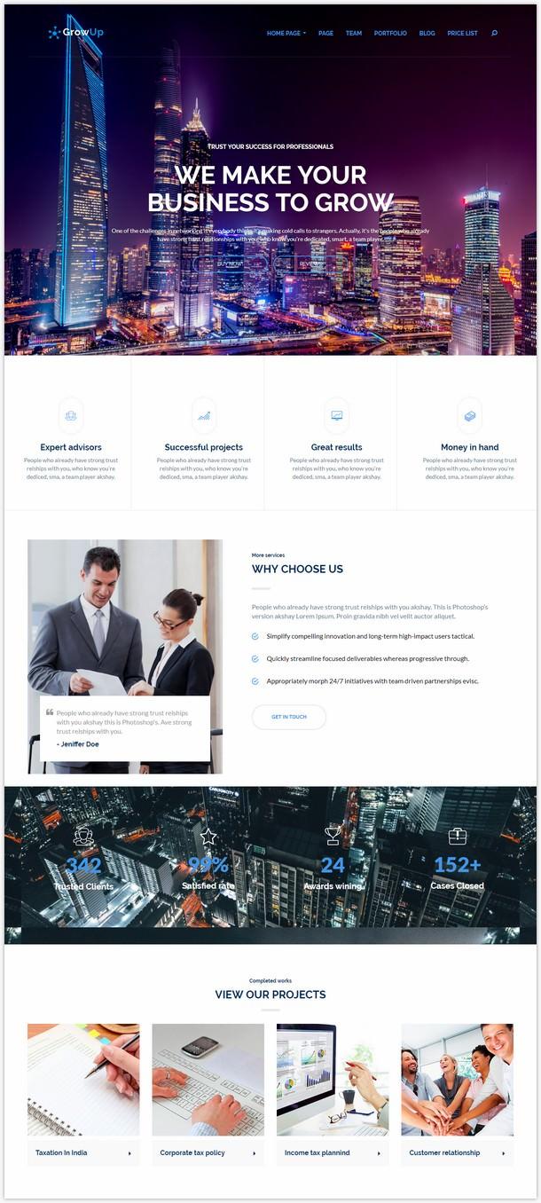 GrowUp Business & Financial WordPress Theme-541845