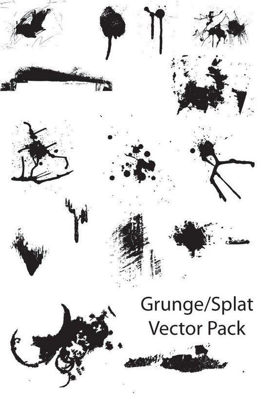 Grunge Splat vector pack