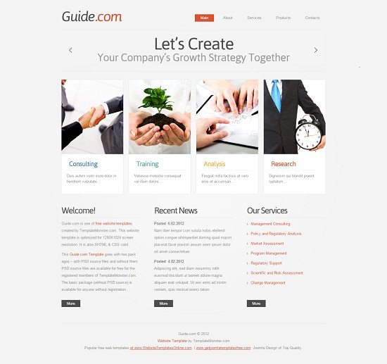 Guide Free HTML5 Consulting Template