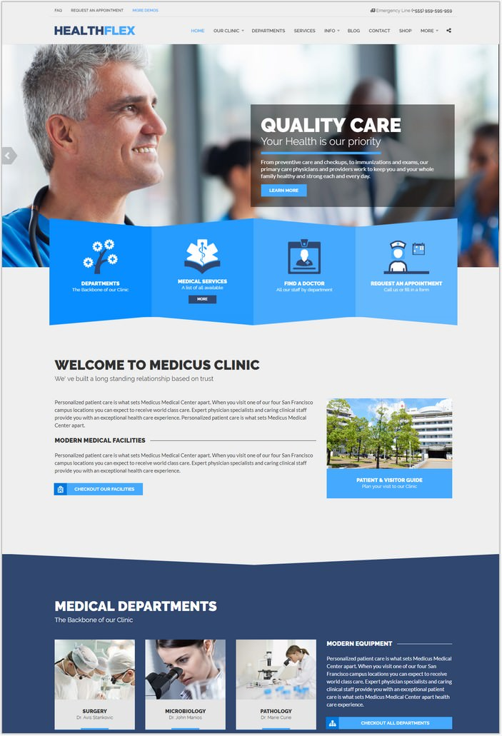 HEALTHFLEX Medical Health WordPress PHP Theme
