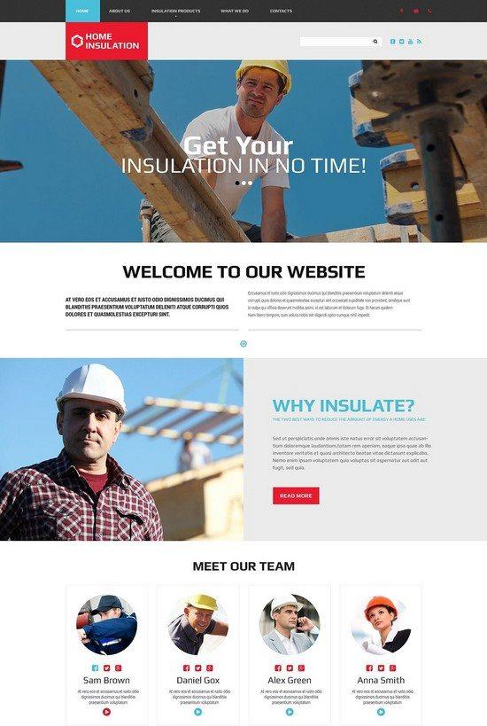 HEAT INSULATION Architecture Website Template