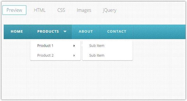 HTML, CSS, & jQuery Menus