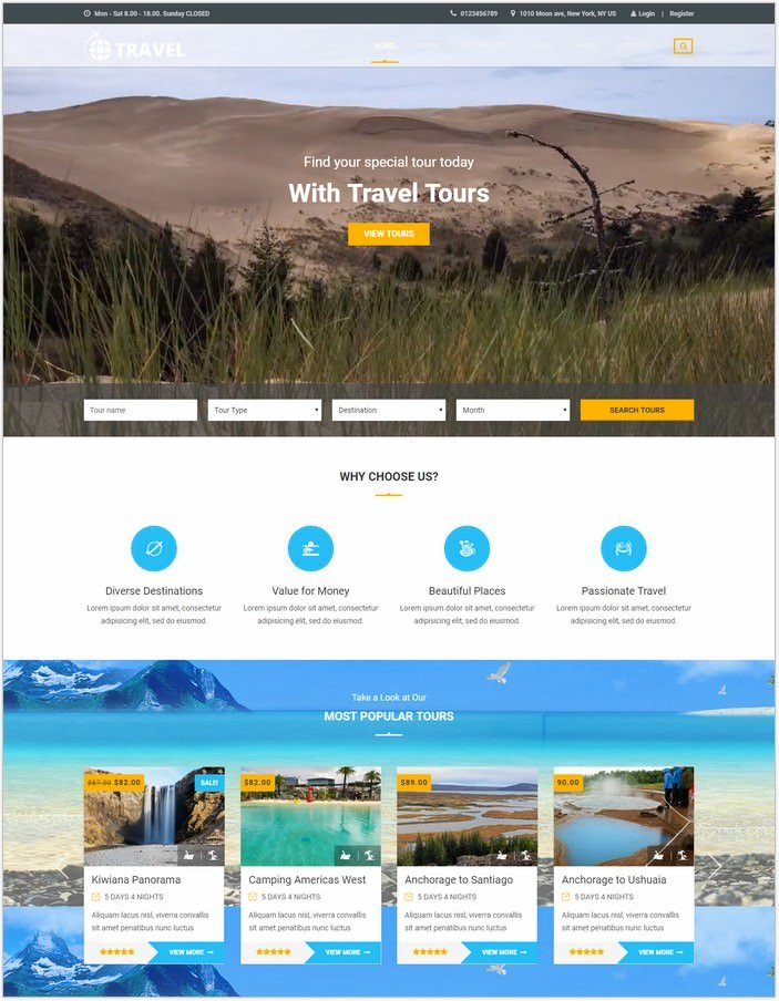HTML Template for Travel Agency and Tour Operator