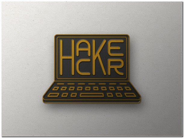 Hacker Enamel Pin Mock