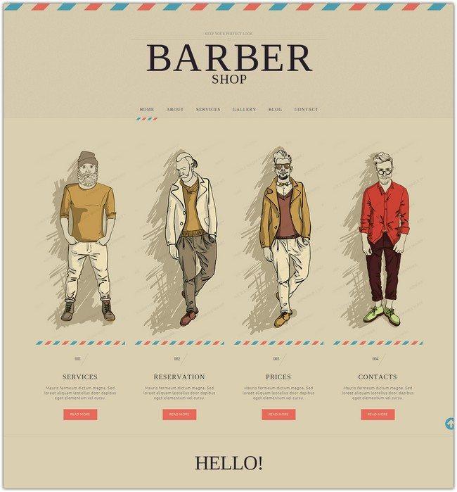 Hair Salon Responsive Website Template
