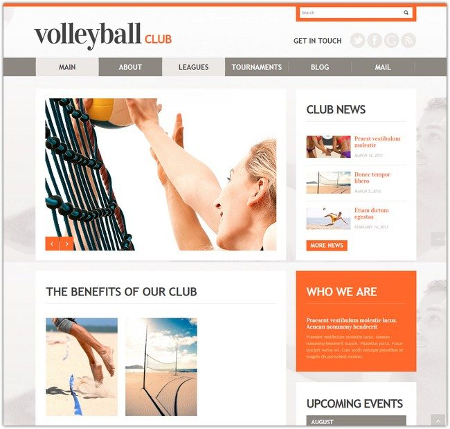 Happy Volleyball WordPress Theme