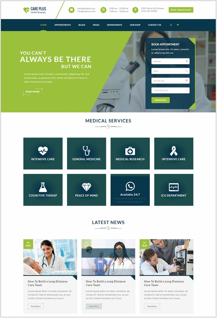 Health CarePlus - Medical And Health Template