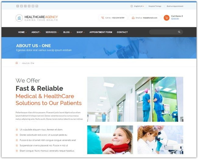 Healthcare Agency - Health & Medical HTML