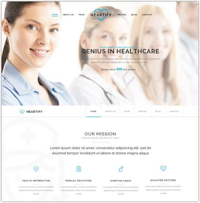 Heartify - Responsive Medical and Health Template