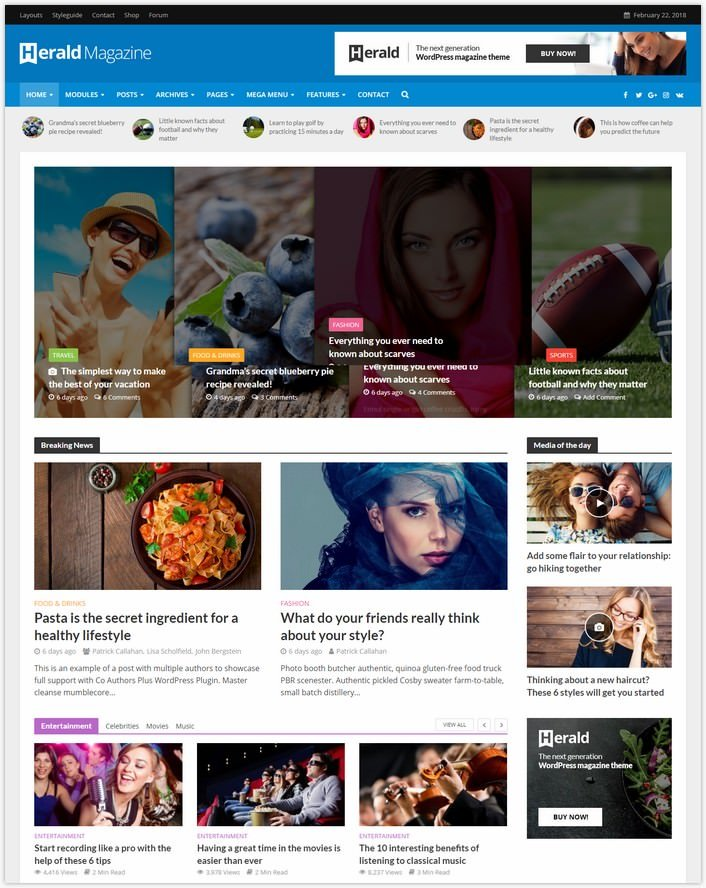 Herald - Magazine WordPress Theme