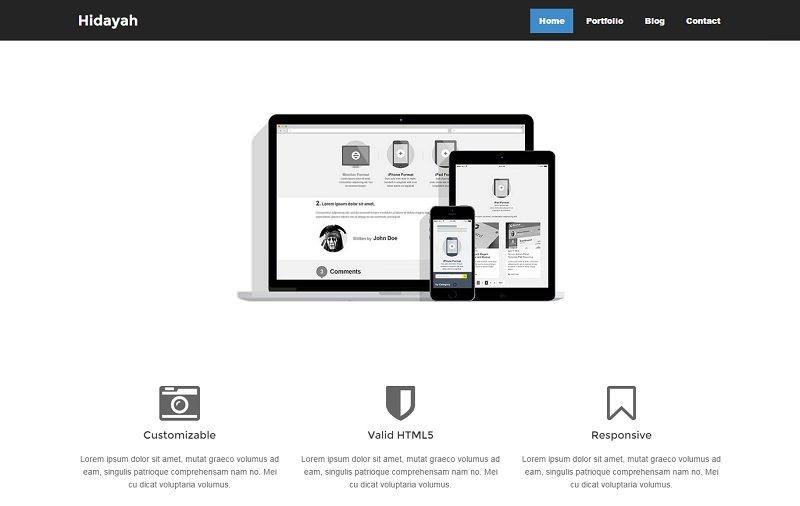 Hidayah Free Simple HTML Template