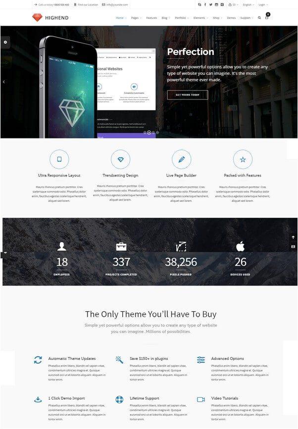 Highend Ultimate Multi-Purpose WordPress Theme