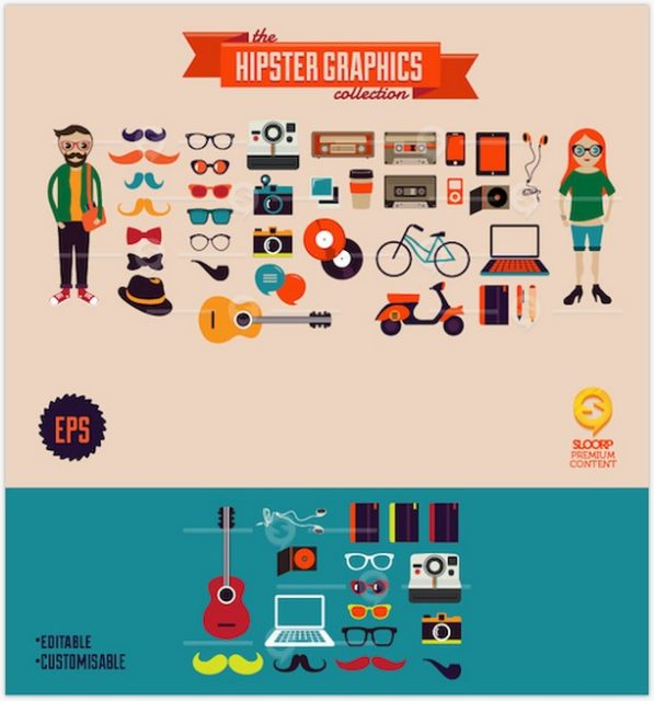 Hipster Graphics collection
