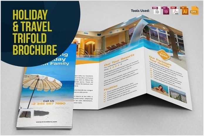 Holiday Travel Trifold Brochure v.1