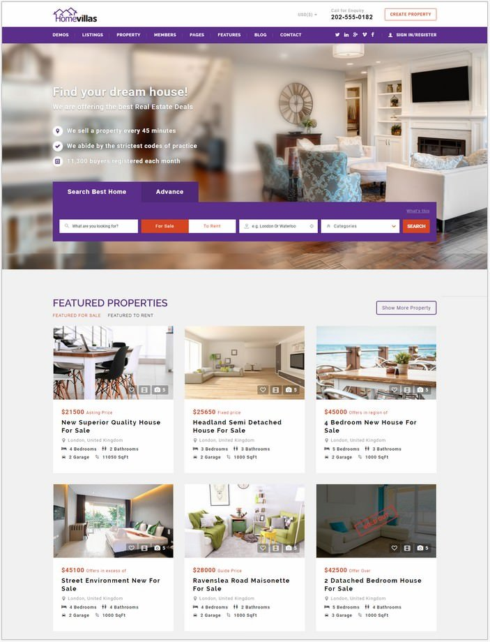 Home Villas - Real Estate WordPress Theme