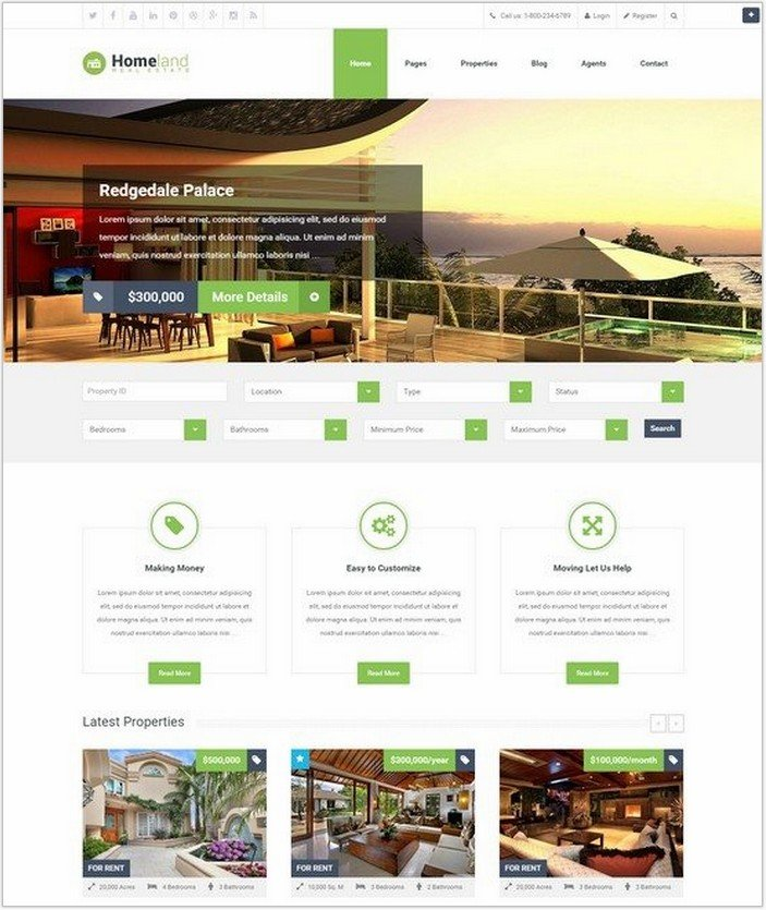 Homeland – Responsive Real Estate WordPress Theme