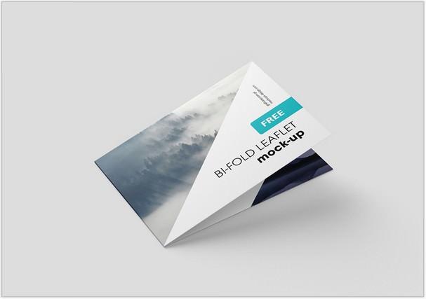 Horizontal Folded Brochure Mockup