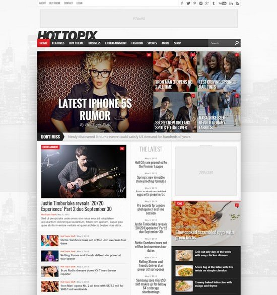 Hot Topix – Modern WordPress Magazine Theme