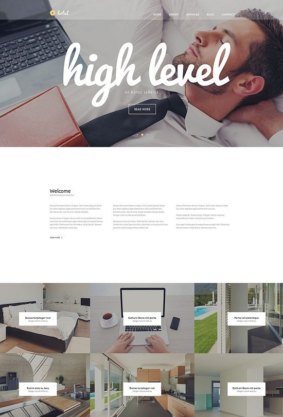 Hotel Business WordPress Theme